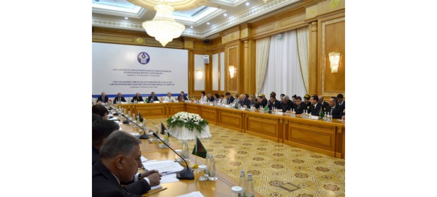 MEETING OF THE COUNCIL ON HEALTHCARE COOPERATION OF THE COMMONWEALTH OF INDEPENDENT STATES WAS HELD IN ASHGABAT