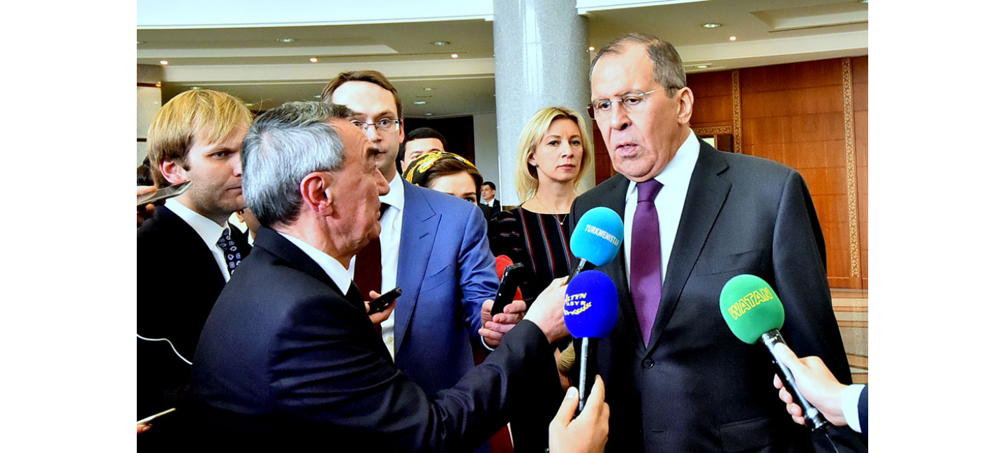 Foreign Minister of Russian Federation Sergey Lavrov gives an interview to the State News Agency of Turkmenistan